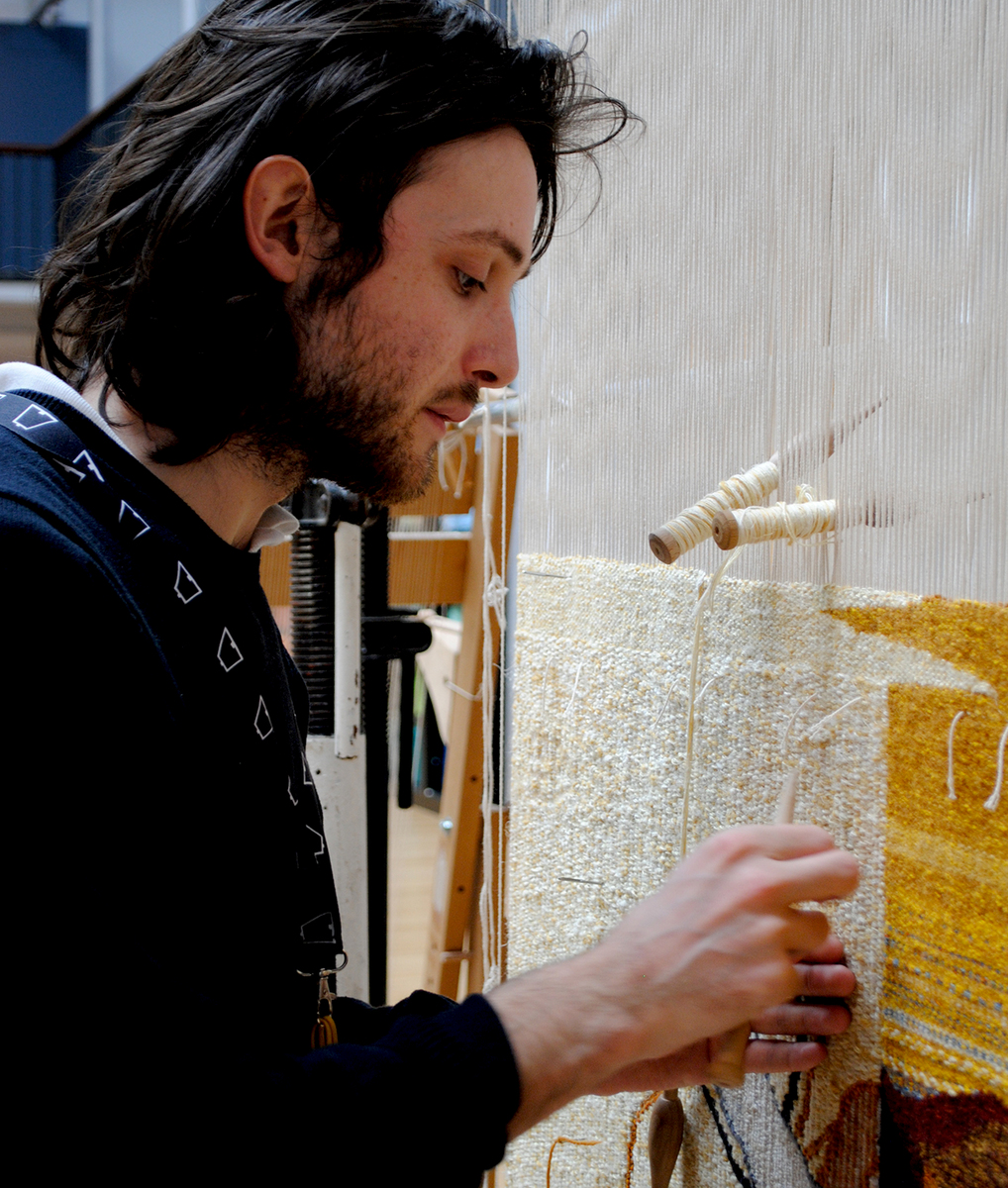 Weaving Demonstration by Apprentice Weaver Ben Hymers