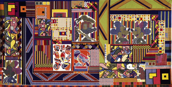 Paolozzi tapestry at the Whitechapel Gallery