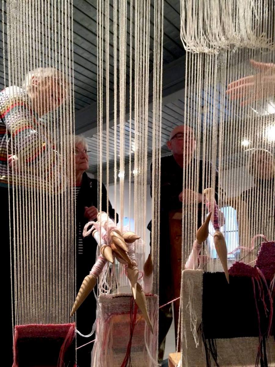 Weaving Demonstration by Apprentice Weaver Ben Hymers