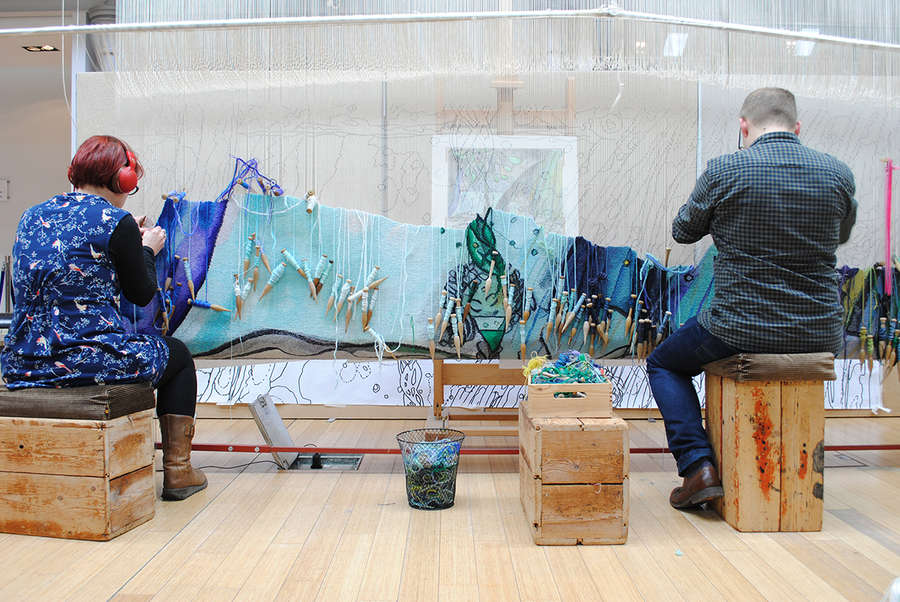 Weaving the Chris Ofili Tapestry