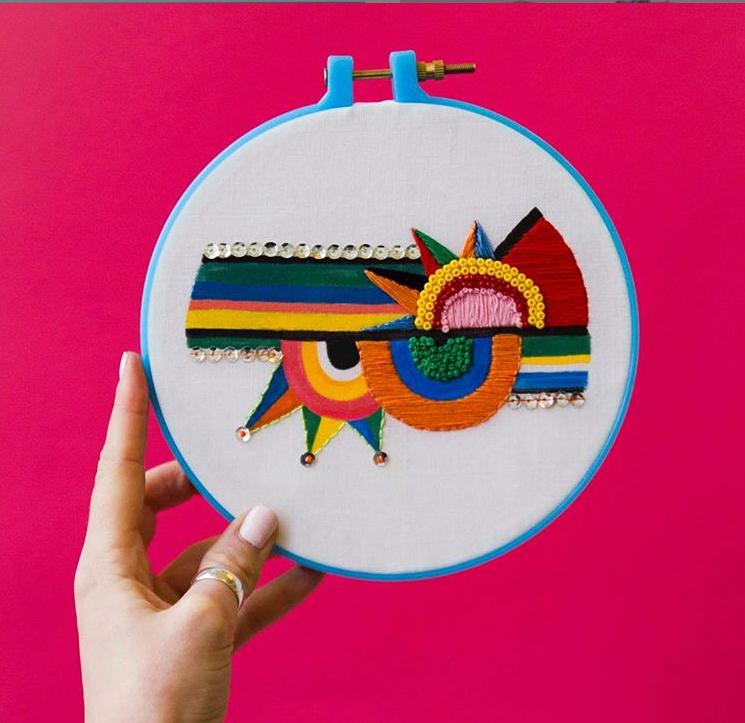 Mid-Century Modern Embroidery