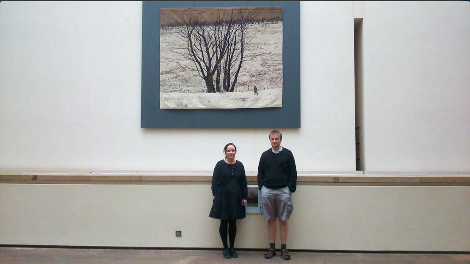 Large Tree Group tapestry hanging at National Museum of Scotland