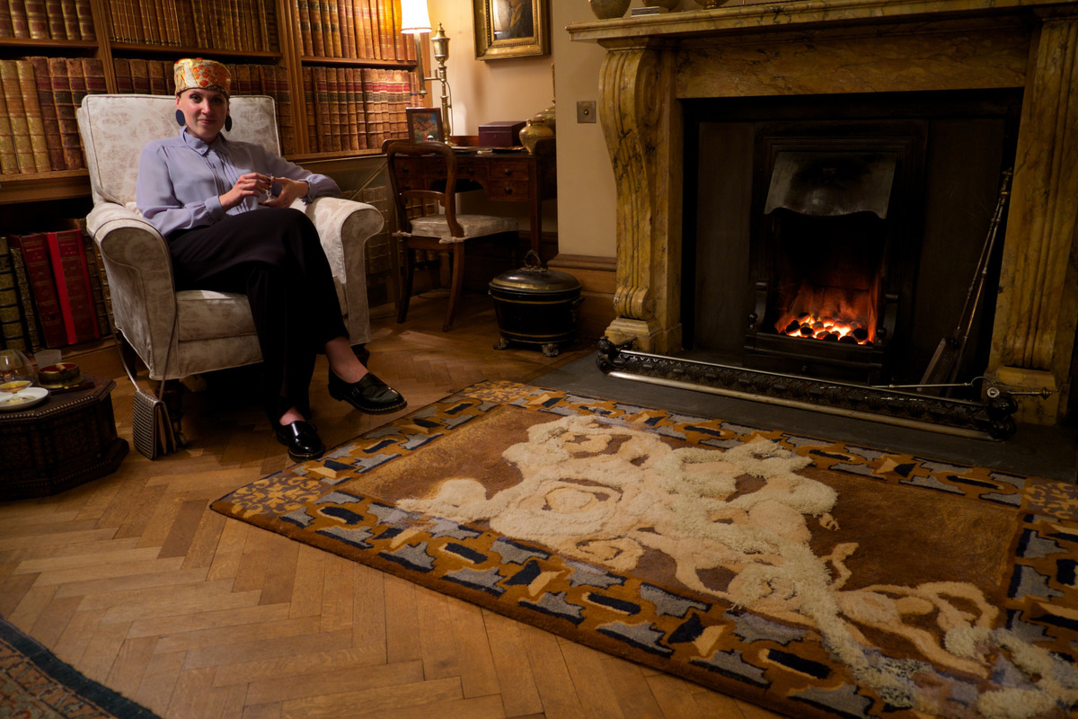 Bowhill Smoking Room now open to public features Dovecot rug