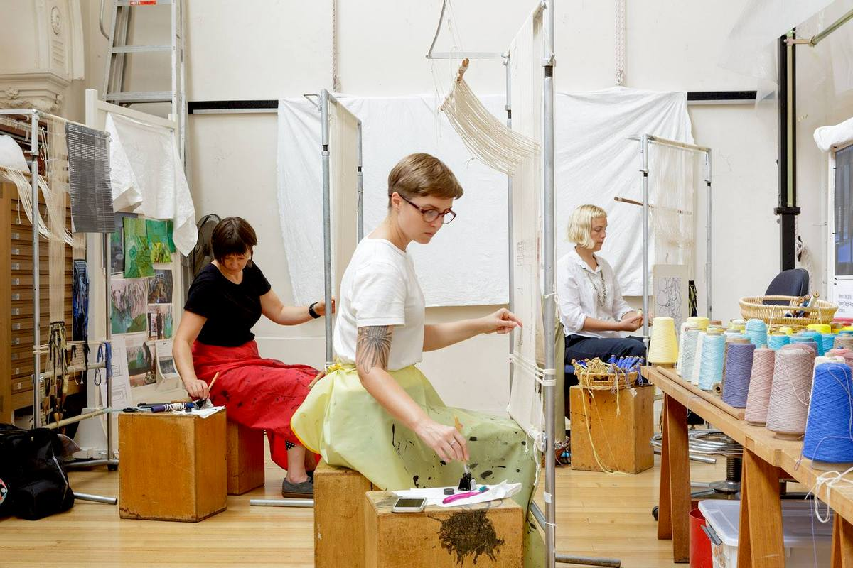 Dovecot welcomes Australian Tapestry Workshop weavers