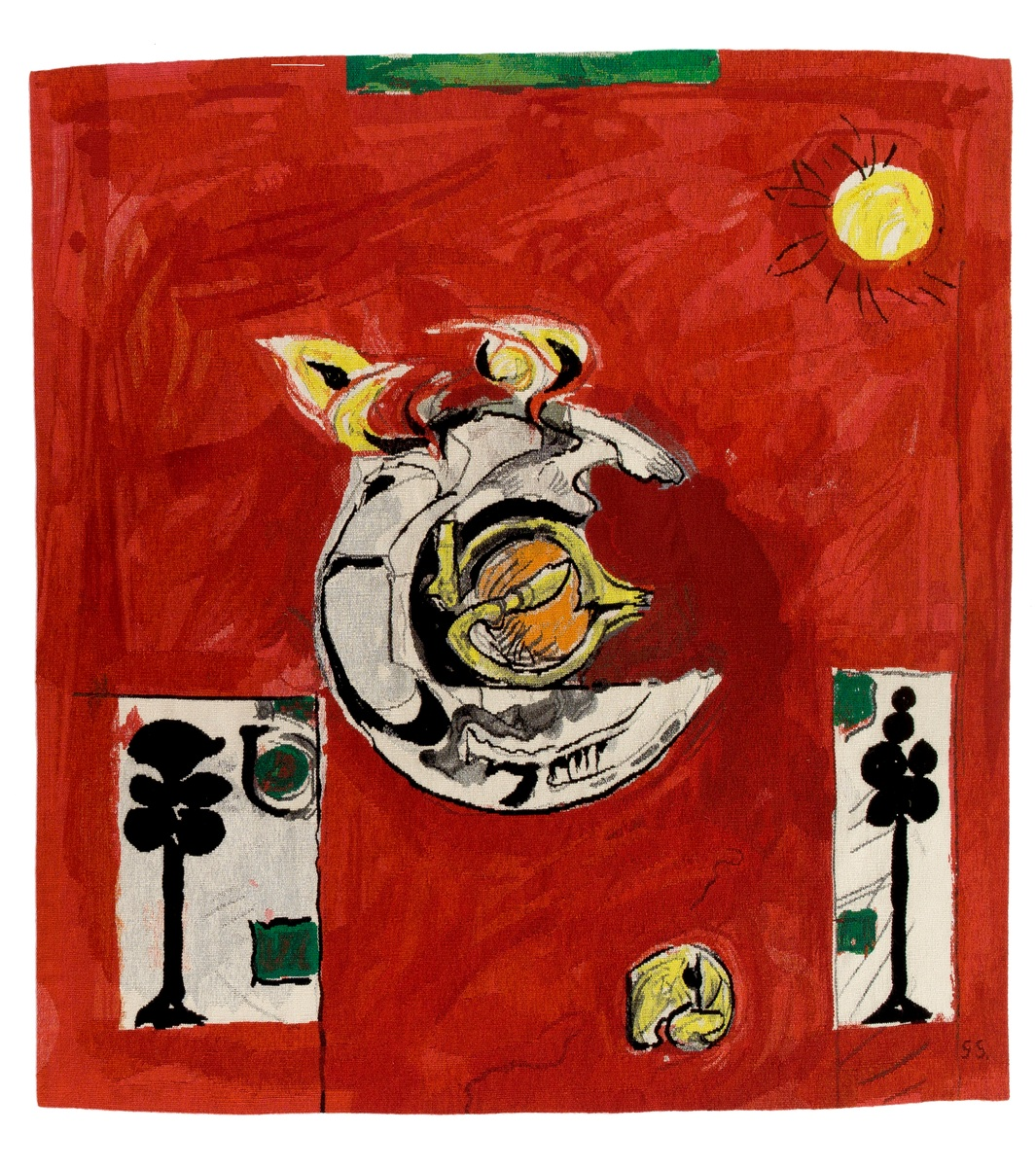 Graham Sutherland's Emblem on Red